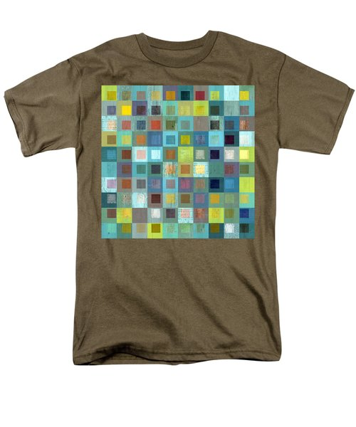 Men's T-Shirt  (Regular Fit) featuring the digital art Squares In Squares Two by Michelle Calkins