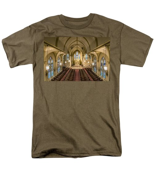 St. Francis Xavier Cathedral Men's T-Shirt  (Regular Fit) by Andy Crawford