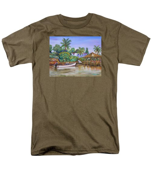 St. George Harbor Men's T-Shirt  (Regular Fit) by Patricia Piffath