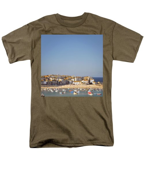 Men's T-Shirt  (Regular Fit) featuring the photograph St Ives Harbour by Lyn Randle
