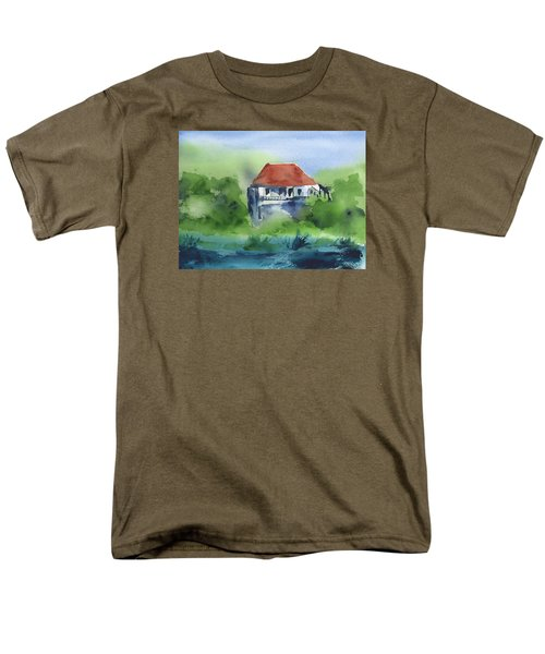 Men's T-Shirt  (Regular Fit) featuring the painting St Johns Rental by Frank Bright