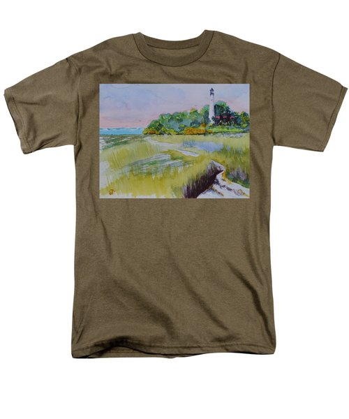 St. Marks Lighthouse Beachfront Men's T-Shirt  (Regular Fit) by Warren Thompson