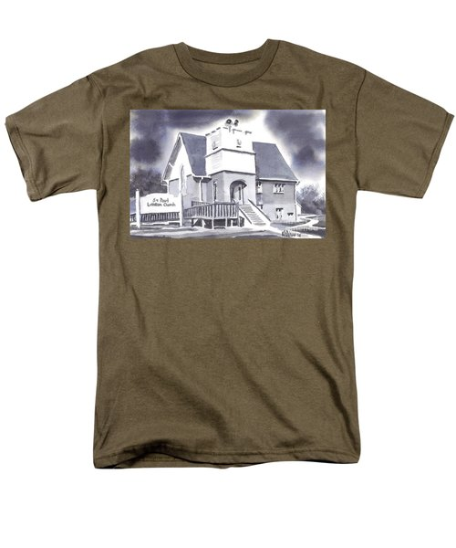 St Paul Lutheran With Ink Men's T-Shirt  (Regular Fit) by Kip DeVore
