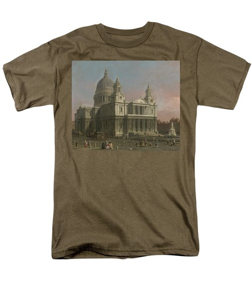 St. Paul's Cathedral Men's T-Shirt  (Regular Fit) by Giovanni Antonio Canaletto