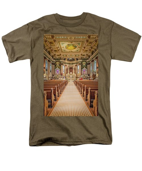 Men's T-Shirt  (Regular Fit) featuring the photograph St Peter The Apostle Church Pa by Susan Candelario