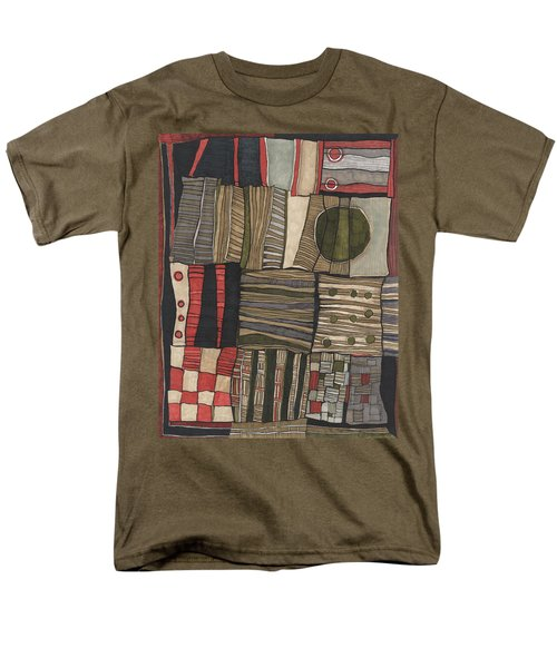 Stacked Shapes Men's T-Shirt  (Regular Fit) by Sandra Church