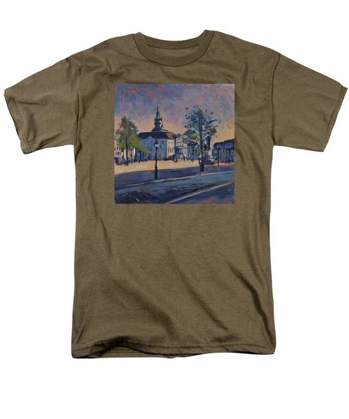 Men's T-Shirt  (Regular Fit) featuring the painting Stadhuis Maastricht by Nop Briex