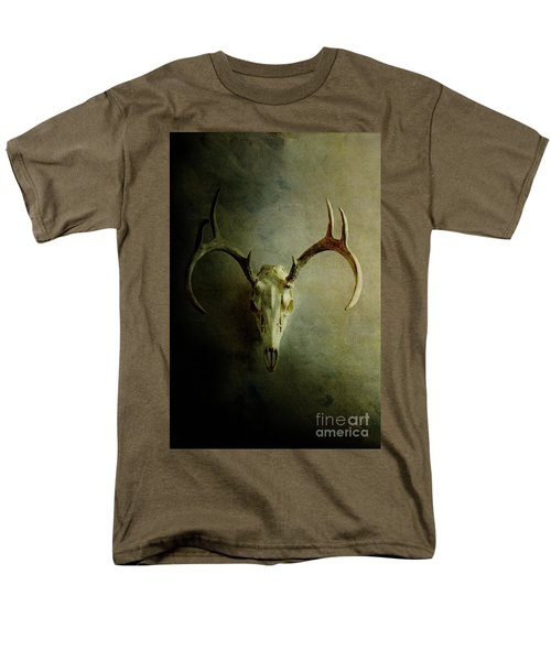 Men's T-Shirt  (Regular Fit) featuring the photograph Stag Skull by Stephanie Frey