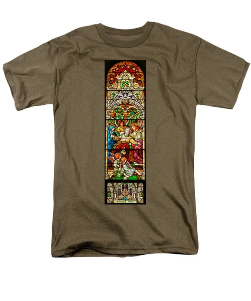 Men's T-Shirt  (Regular Fit) featuring the photograph Stained Glass Scene 1 - 4 by Adam Jewell