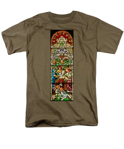 Men's T-Shirt  (Regular Fit) featuring the photograph Stained Glass Scene 1 Crop by Adam Jewell