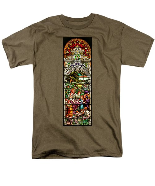 Men's T-Shirt  (Regular Fit) featuring the photograph Stained Glass Scene 12 by Adam Jewell