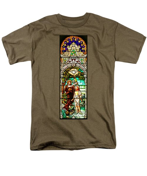 Men's T-Shirt  (Regular Fit) featuring the photograph Stained Glass Scene 2 Crop 2 by Adam Jewell