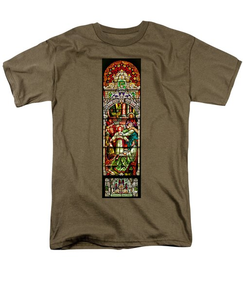 Men's T-Shirt  (Regular Fit) featuring the photograph Stained Glass Scene 3 by Adam Jewell