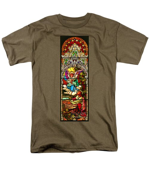 Men's T-Shirt  (Regular Fit) featuring the photograph Stained Glass Scene 7 Crop by Adam Jewell