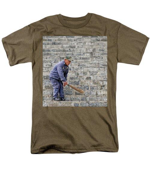 Stair Sweeper In Bhutan Men's T-Shirt  (Regular Fit) by Joe Bonita