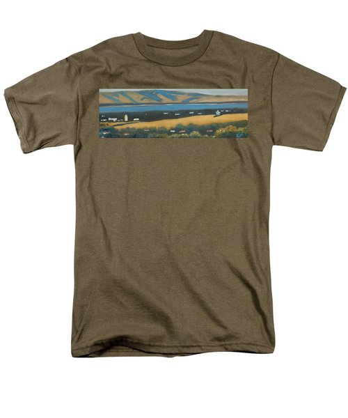 Men's T-Shirt  (Regular Fit) featuring the painting Stanford By The Bay by Gary Coleman