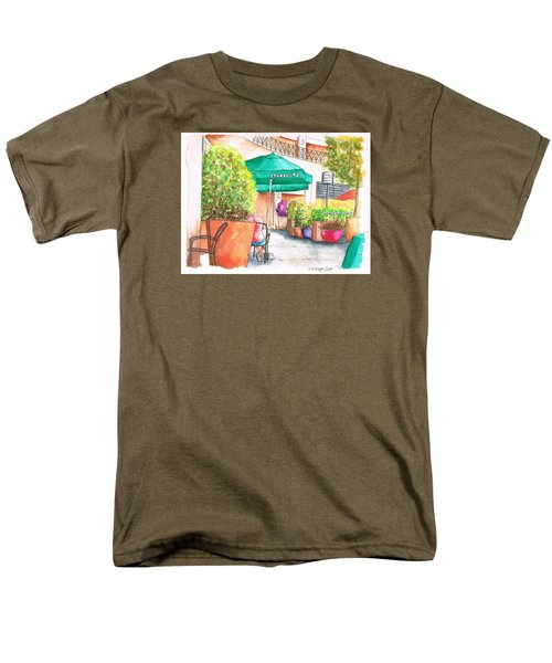 Starbucks Coffee, Sunset Blvd, And Cresent High, West Hollywood, Ca Men's T-Shirt  (Regular Fit) by Carlos G Groppa
