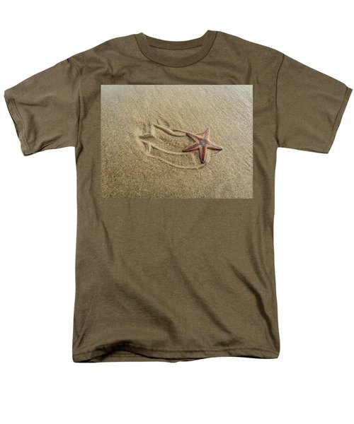Starfish On The Beach Men's T-Shirt  (Regular Fit) by Debra Martz
