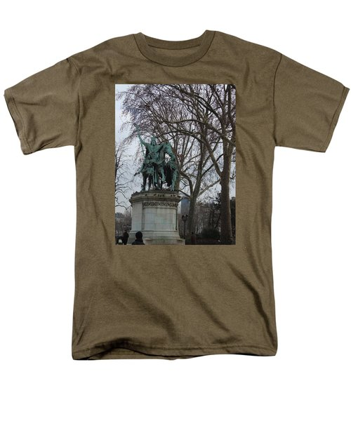 Statue At Notre Dame Men's T-Shirt  (Regular Fit) by Roxy Rich