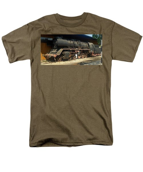 Steam Train  Men's T-Shirt  (Regular Fit) by Pierre Van Dijk