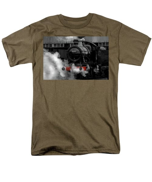 Steam Train Selective Colour Men's T-Shirt  (Regular Fit) by Ken Brannen