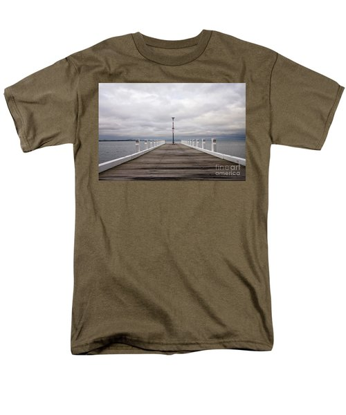 Men's T-Shirt  (Regular Fit) featuring the photograph Steampacket Quay by Linda Lees