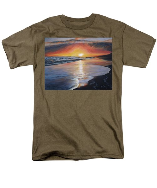Men's T-Shirt  (Regular Fit) featuring the painting Stephanie's Sunset by Donna Tuten