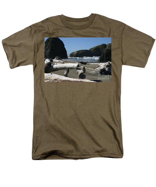 Sticks And Stones Men's T-Shirt  (Regular Fit) by Marie Neder