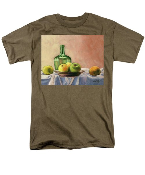 Still Life With Bottle Men's T-Shirt  (Regular Fit) by Janet King