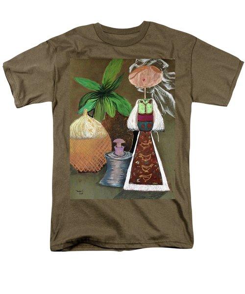 Still Life With Countru Girl Men's T-Shirt  (Regular Fit)