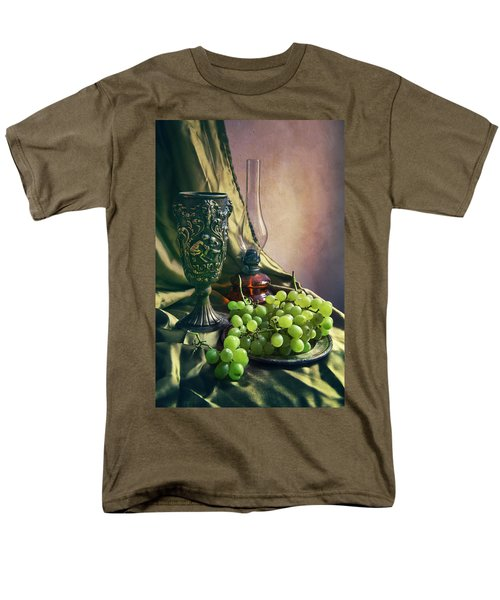 Men's T-Shirt  (Regular Fit) featuring the photograph Still Life With Green Grapes by Jaroslaw Blaminsky
