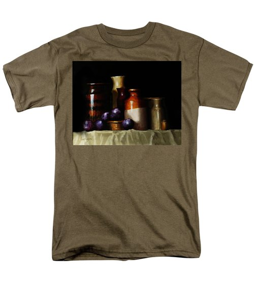 Men's T-Shirt  (Regular Fit) featuring the painting Still Life With Plums by Barry Williamson