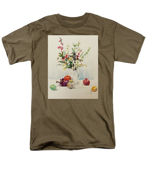 Men's T-Shirt  (Regular Fit) featuring the painting Still Life With Pomegranate by Becky Kim