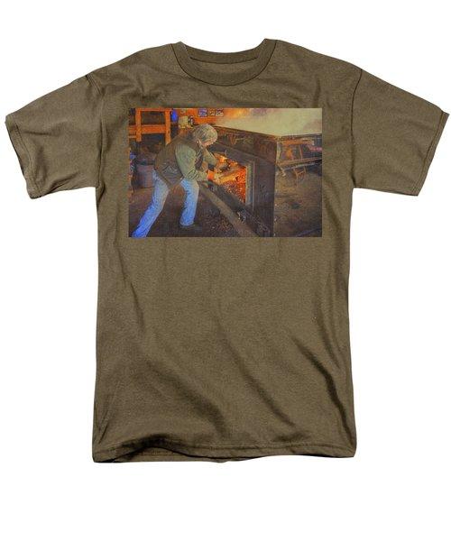 Stoking The Sugarhouse Men's T-Shirt  (Regular Fit) by Tom Singleton