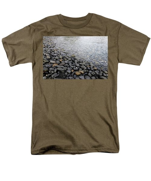 Men's T-Shirt  (Regular Fit) featuring the photograph Menorca Pebble Beach  by Pedro Cardona