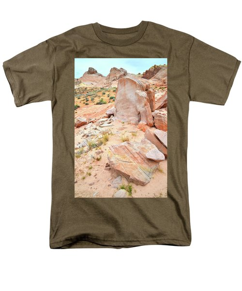 Men's T-Shirt  (Regular Fit) featuring the photograph Stone Tablet In Valley Of Fire by Ray Mathis