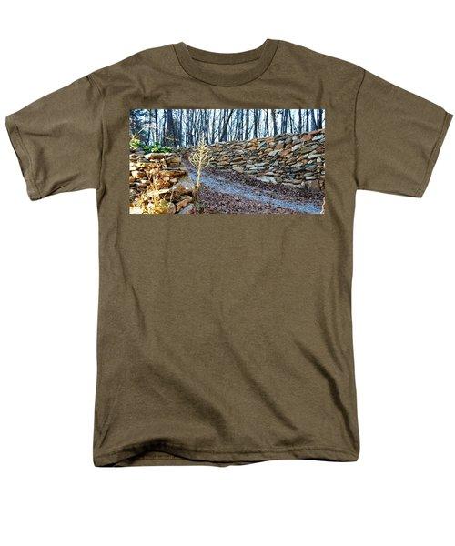 Stone Wall Ga Mountain 1 Men's T-Shirt  (Regular Fit) by Angela Murray
