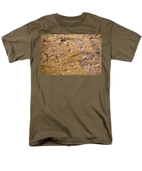 Men's T-Shirt  (Regular Fit) featuring the photograph Stones In A Mud Water Wash by John Williams