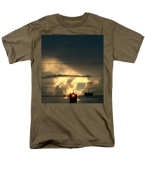 Stoplight In The Sky Men's T-Shirt  (Regular Fit) by Audrey Robillard