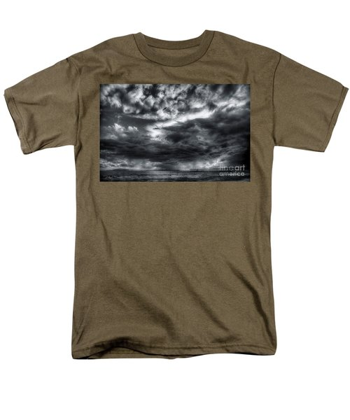 Men's T-Shirt  (Regular Fit) featuring the photograph Storm Clouds Ventura Ca Pier by John A Rodriguez