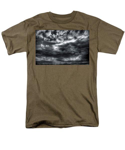 Storm Clouds Ventura Ca Pier Men's T-Shirt  (Regular Fit) by John A Rodriguez