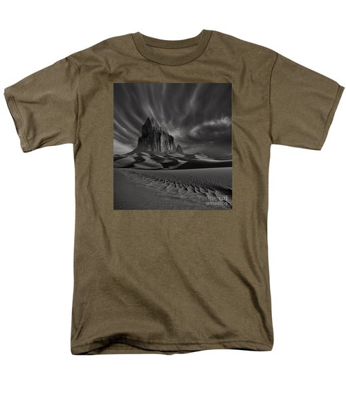 Storm Over Shiprock New Mexico Men's T-Shirt  (Regular Fit) by Keith Kapple