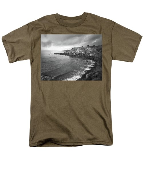 Storm Over The Eastern Shoreline Of Angra Do Heroismo Terceira Men's T-Shirt  (Regular Fit) by Kelly Hazel