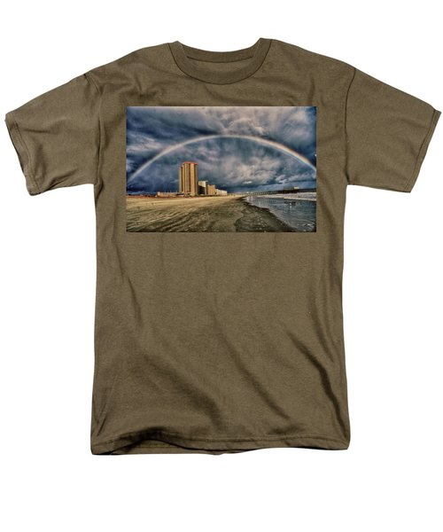 Men's T-Shirt  (Regular Fit) featuring the photograph Stormy Rainbow by Kelly Reber