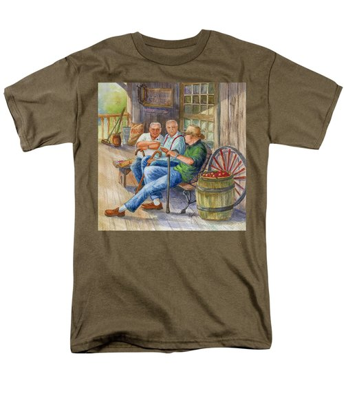 Men's T-Shirt  (Regular Fit) featuring the painting Storyteller Friends by Marilyn Smith