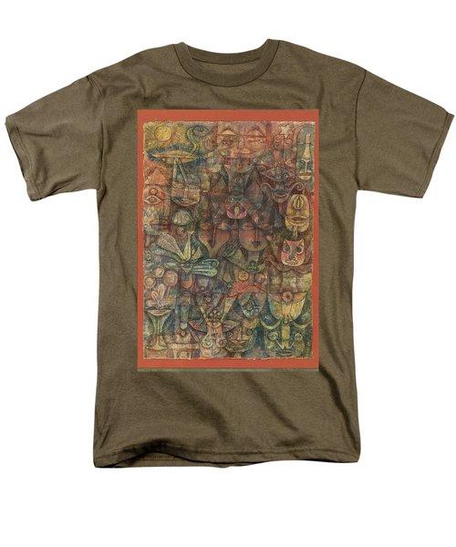 Strange Garden Men's T-Shirt  (Regular Fit) by Paul Klee