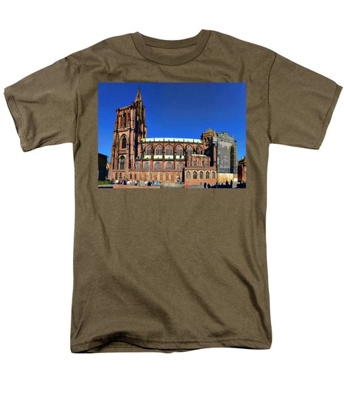 Men's T-Shirt  (Regular Fit) featuring the photograph Strasbourg Catheral by Alan Toepfer