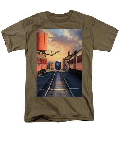 Men's T-Shirt  (Regular Fit) featuring the photograph Strasburg Railroad Station by Lori Deiter