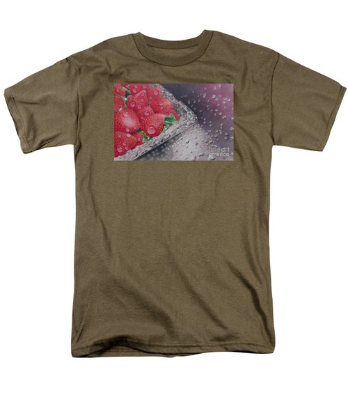 Strawberry Splash Men's T-Shirt  (Regular Fit) by Pamela Clements