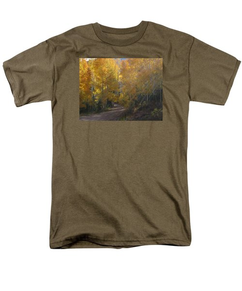Men's T-Shirt  (Regular Fit) featuring the photograph Streaming Light Paiute Trail Fremont Utah by Deborah Moen